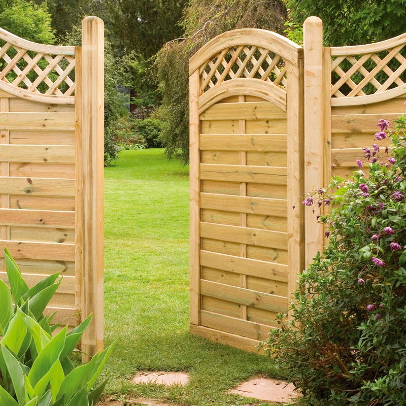 Garden gates can be part of the fencing we install to customers across Norfolk